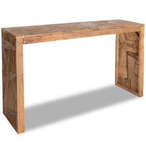 Console Table Erosion Teak Wood 120x35x76 cm