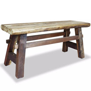 Bench Solid Reclaimed Wood 100x28x43 cm