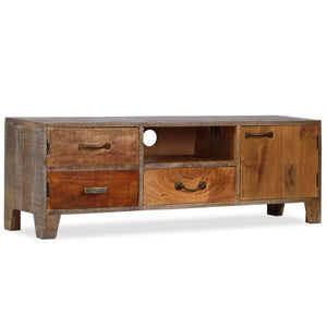 TV Cabinet Solid Wood Vintage 118x30x40 cm