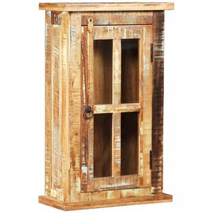 Wall Cabinet Solid Reclaimed Wood 44x21x72 cm