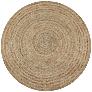 Area Rug Braided Jute 90 cm Round