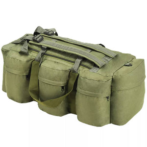 3-in-1 Army-Style Duffel Bag 120 L Olive Green