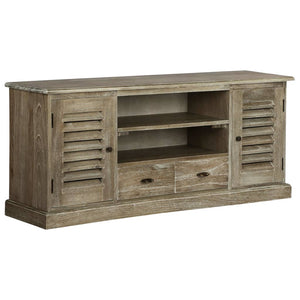 TV Cabinet Solid Mindi Wood 145x35x60 cm