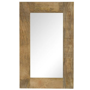 Mirror Solid Mango Wood 50x80 cm