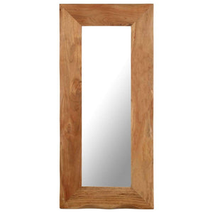 Cosmetic Mirror 50x110 cm Solid Acacia Wood