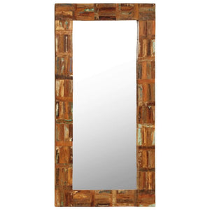 Wall Mirror Solid Reclaimed Wood 60x120 cm