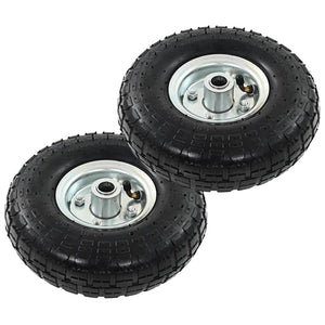 Sack Truck Wheels 2 pcs Rubber 4.10/3.50-4