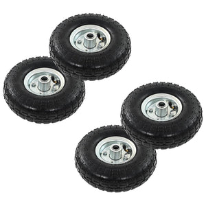 Sack Truck Wheels 4 pcs Rubber 4.10/3.50-4