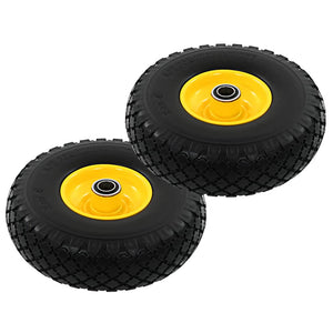 Sack Truck Wheels 2 pcs Solid PU 3.00-4 sku-142977