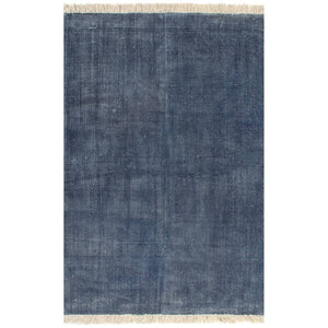 Kilim Rug Cotton 120x180 cm Blue
