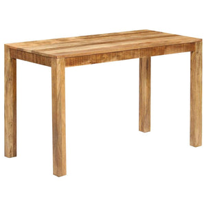 Dining Table Solid Mango Wood 120x60x76 cm