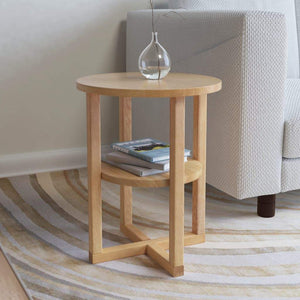 Side Table 40x50 cm Solid Oak Wood