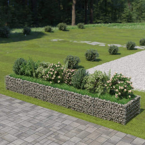 Gabion Raised Bed Galvanised Steel 450x90x50 cm