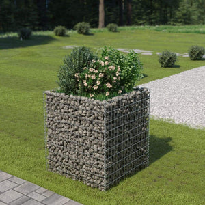 Gabion Raised Bed Galvanised Steel 90x90x100 cm