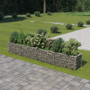 Gabion Raised Bed Galvanised Steel 360x50x50 cm