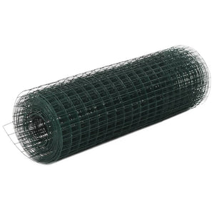 Chicken Wire Fence Steel with PVC Coating 25x0.5 m Green sku-143633