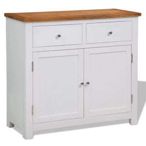 Sideboard 90x33.5x83 cm Solid Oak Wood sku 247123