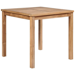 Garden Table 80x80x77 cm Solid Teak Wood