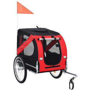 Dog Bike Trailer Red and Black sku 91766