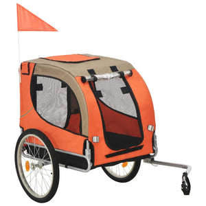 Dog Bike Trailer Orange and Brown sku 91767