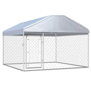 Outdoor Dog Kennel with Roof 200x200x135 cm