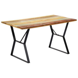 Dining Table 140x80x76 cm Solid Reclaimed Wood