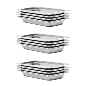 Gastronorm Containers 12 pcs GN 1/3 40 mm Stainless Steel