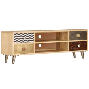 TV Cabinet 120x30x40 cm Solid Mango Wood