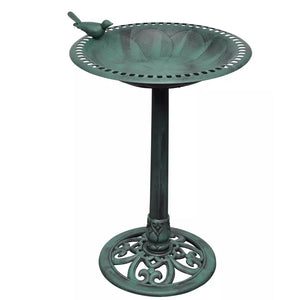 Bird Bath with Decorative Bird