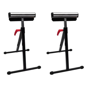 Set of 2 Adjustable Roller Stands