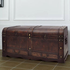 Wooden Treasure Chest Large Brown