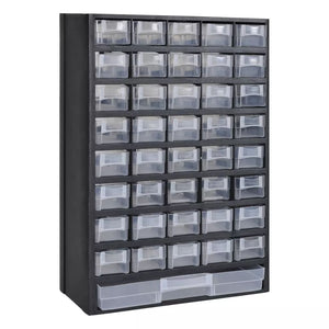 41-Drawer Plastic Storage Cabinet Tool Box