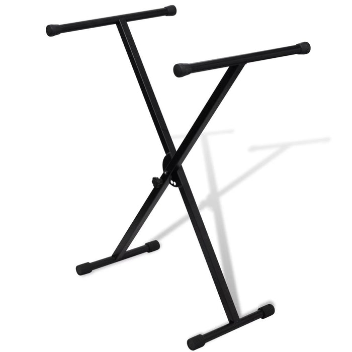 Adjustable Single Braced Keyboard Stand X-Frame