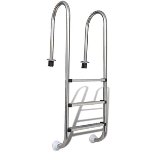 Pool Ladder 3 Steps Stainless Steel 120 cm
