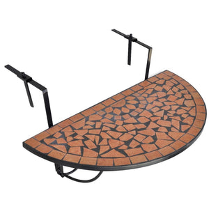 Hanging Balcony Table Terracotta Mosaic