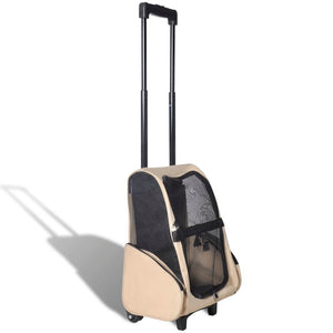 Multipurpose Pet Trolley Beige Foldable