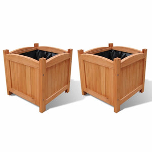 Wooden Raised Bed 30x30x30 cm Set of 2