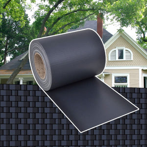 Garden Privacy Screen PVC 70x0.19 m Dark Grey - sku 41617