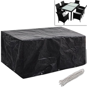 Garden Furniture Cover 6 Person Poly Rattan Set 10 Eyelets 240 x 140cm