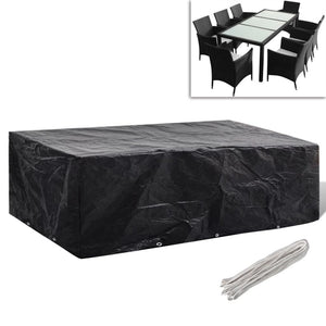 Garden Furniture Cover 8 Person Poly Rattan Set 10 Eyelets 300 x 140cm