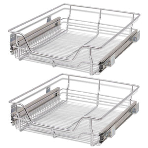 Pull-Out Wire Baskets 2 pcs Silver 500 mm