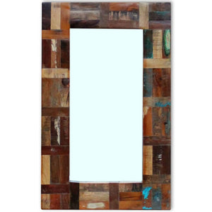 Mirror Solid Reclaimed Wood 80x50 cm