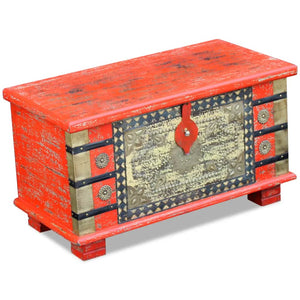 Storage Chest Red Mango Wood 80x40x45 cm