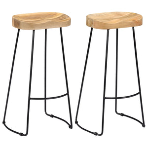 Gavin Bar Stools 2 pcs Solid Mango Wood - sku 247838