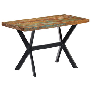 Dining Table 120x60x75 cm Solid Reclaimed Wood