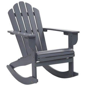 Garden Rocking Chair Wood Grey