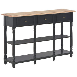 Console Table Black 120x30x76 cm MDF