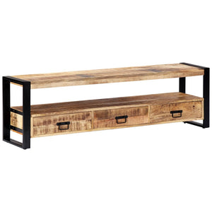TV Cabinet 150x30x45 cm Solid Mango Wood