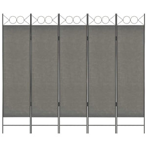 5-Panel Room Divider Anthracite 200x180 cm
