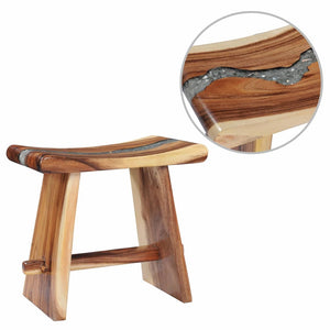 Stool Solid Suar Wood and Polyresin